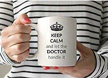 Behalten Sie ruhige Doktor-Tasse Kaffeebecher 11oz
