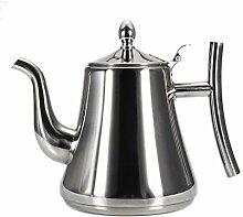 Behandelte Edelstahl Teekanne Kaffeekanne 1L /