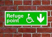 Behinderte Rifugio Point HSE Schild Gesundheit &
