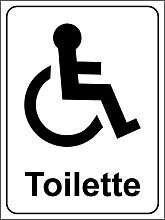 Behinderten Toiletten Schild - Aufkleber 150mm x