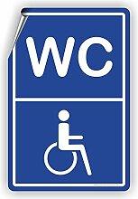 BEHINDERTEN WC - SCHILD / D-006 (30x45cm Aufkleber)