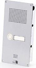 Behnke 5-0051 Türtelefon Serie 5, Unterputz-Set 1 Taste, silber