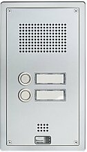 Behnke 5-0053 Türtelefon Serie 5, Unterputz-Set 2 Tasten, silber