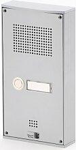 Behnke 5-0055 Türtelefon Serie 5, Aufputz-Set 1 Taste, silber