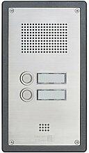 Behnke 5-0059 Türtelefon Serie 5, Unterputz-Set 2 Tasten, edelstahl
