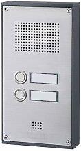 Behnke 5-0061 Türtelefon Serie 5, Aufputz-Set 2 Tasten, edelstahl