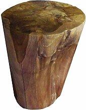 Beho Natürlich gut in Holz Teak Rundhocker aus