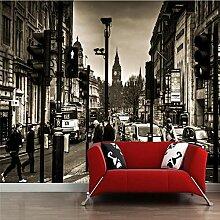 Beibehang Schwarz-Weiß-3D-Tapete London Retro
