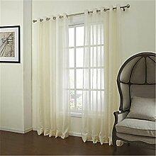 Beiden Platten solide Bettwäsche Polyester Mischung Gardinen Farbtöne Heimtextilien für Fenster , W50*L63