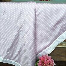 Beidseitige Tencel Sommer kühl Quilt kann waschbar Steppdecke Oberbett soft Quilt Sommer kühl sein, Quilt, Queensize-Bett (200 x 230 cm), D