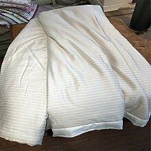 Beidseitige Tencel Sommer kühl Quilt kann waschbar Steppdecke Oberbett soft Quilt Sommer kühl sein, Quilt, Queensize-Bett (200 x 230 cm), E