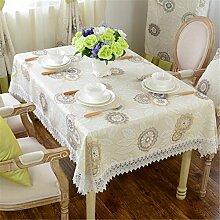 beige champagne Geblümt leaves Tischdecken Baumwolle leinen Pastorale Stil Esstisch Rezeption rechteckigen Square nicht bügeln umweltfreundlich garten Tischtuch