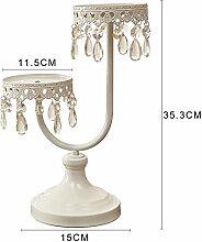 Beige Eisen Kerzenständer, Im Europäischen Stil Heimtextilien Ornamente, Wohnzimmer Weinschrank Raum Dekorationen, ( Farbe : A )