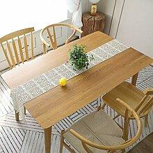 Beige Lace Tischläufer Handgemachte Makramee