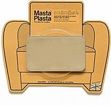 Beige MastaPlasta Self-Adhesive Leather Repair Patches. Choose size/design. First-aid for sofas, car seats, handbags, jackets etc. (BEIGE SUPER-PLAIN 10cmx6cm)