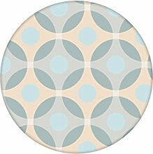 "beige Moderne Retro Tapete ""Flower Dots"""