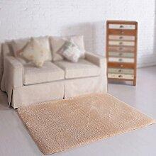 Beige rechteckigen teppich / couchtisch teppich / wohnzimmer sofa decke / schlafzimmer nacht teppich / kinder krabbeln teppich ( größe : 80*160cm )