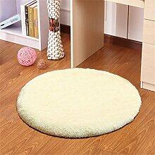 Beige Runde Einfache Teppich Wohnzimmer Schlafzimmer Studie Hängende Stühle Computer Drehstuhl Matratze Mat ( größe : 120CM )