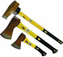 Beil Spaltaxt Axt Set 3 tlg Spalthammer