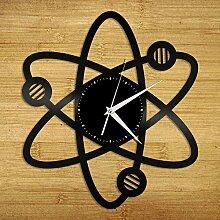 Beisite Wissenschaft Atom Vinyl Wanduhr