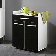 Beistellschrank für Küche Schwarz Weiß Pharao24