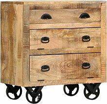 Beistellschrank mit Rädern 70 x 40 x 75 cm
