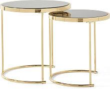 Beistelltisch (2-tlg.Set), gold