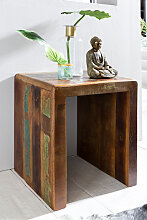Beistelltisch 45 x 40 x 55 cm Massiv-Holz Mango