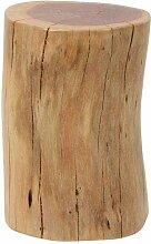 Beistelltisch als Baumstamm Akazie Massivholz