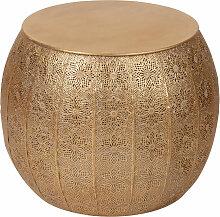 Beistelltisch aus goldfarbenem Metall