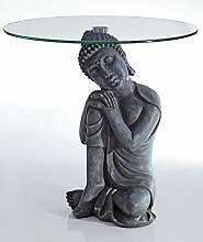 Beistelltisch Buddha Figur im Antik Look