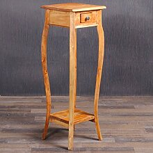 Beistelltisch GIADA 90cm Telefontisch Rustic Grey Blumenhocker Massiv Holz