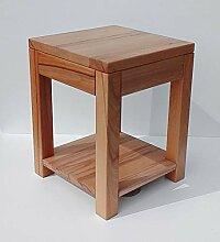 Beistelltisch Holztisch mit Ablageboden Kernbuche