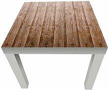 Beistelltisch Holzwand Designtisch M0689 Weiß -