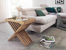 Beistelltisch Massivholz Akazie Design Klapptisch