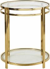 Beistelltisch mit doppelter Tischplatte aus Glas