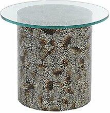 Beistelltisch rund 35cm Mosaik Tischplatte Glas