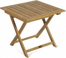 Beistelltisch Solo 50x50 Teak Holz Tisch