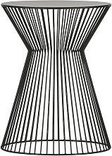 Beistelltisch Suus Metall Design schwarz