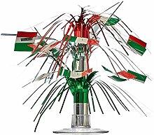 Beistle 50105Italienische Flagge Miniatur Cascade Mittelpunkt, 71/2