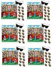 Beistle s66679az6, Pin der Ball Fußball Spiele, 47x 43,8cm 6-teilig mehrfarbig