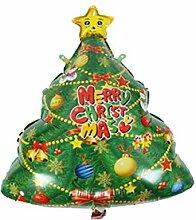 Beiswin Weihnachtsbaum Santa Schneemann Aluminium