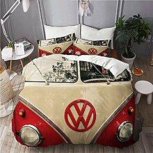 BEITUOLA Bettwäsche-Set, Mikrofaser,VW Bus