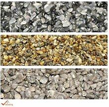25kg Marmorkies + 1,5kg Bindemittel BEKATEQ BK-600EP Steinteppich Set Bodenbelag Marmorkies zur Bodenbeschichtung Rosa del Garda