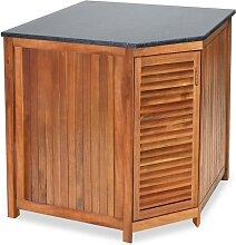 Belardo Eckschrank hoch 76953 Akazienholz für Gartenküche