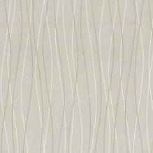 Belcanto Tapete P+S Tapeten Vliestapete 13501-40 Retro Streifen beige weiß