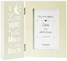 beleuchtet creme I love you to the Moon