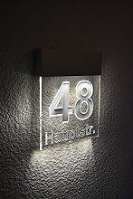 Beleuchtete Hausnummer Premium Line M 190mm