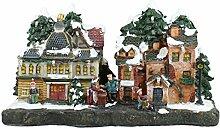 Beleuchtete Weihnachtsstadt 1 ca. 27 cm Deko für