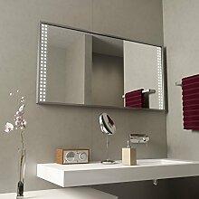 Beleuchteter Spiegel mit Alurahmen Caruso - B 1100mm x H 700mm - warmweiss